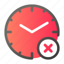 alarm, cancel, clock, cross, no, time, watch icon