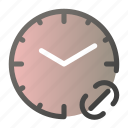 alarm, clock, link, time, watch icon
