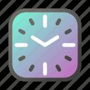 alarm, clock, time, watch, watchshape icon