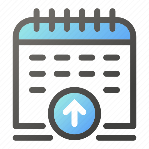 calendar, date, increase, schedule, time, up icon