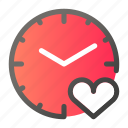 clock, line, mini, time icon