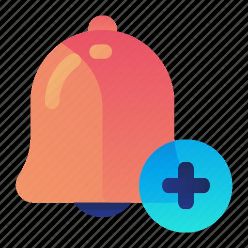 add, alarm, alert, create, new icon