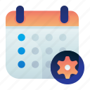 appointment, calendar, date, options, preferences, settings icon