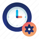 clock, options, preferences, settings, time icon