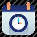 calendar, clock, date, time