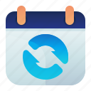 appointment, calendar, date, sync, syncronize icon