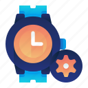 clock, options, settings, time, watch icon