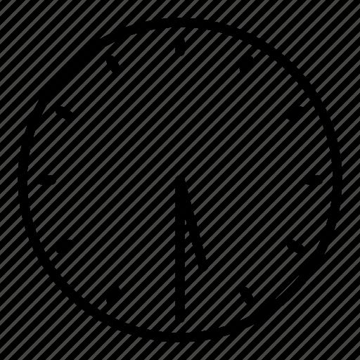 clock, half past five, time icon