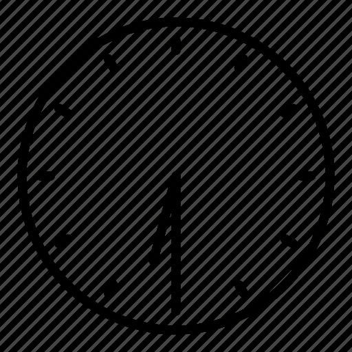 clock, half past six, time icon