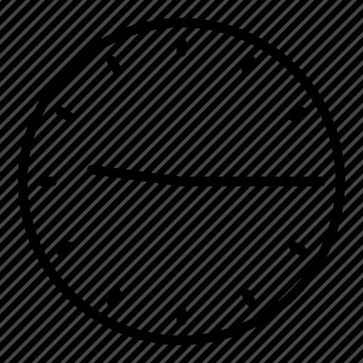 clock, quarter past nine, time icon