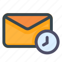 email, time, mail, clock, message, letter, envelope