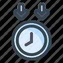 down, time, clock, arrow, direction, navigation, location