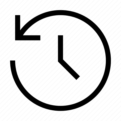 anti, anticlockwise, clock, clockwise, set, time, turn icon