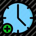 add, alarm, date, new icon