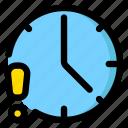 alarm, clock, time, warn icon