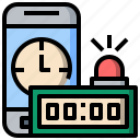 alarm, bell, mobilephone, ringing, schedule, smartphone, time icon
