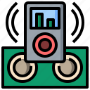 button, ipod, movie, multimedia, music, play, video icon