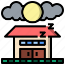 astronomy, half, house, moon, night, phase, phases icon