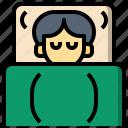 asleep, bed, dreams, resting, sleep, sleeping, sweet icon