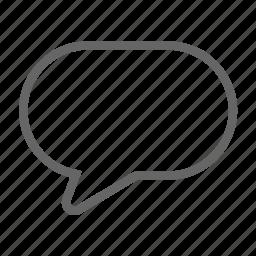 bubble, message, speech icon