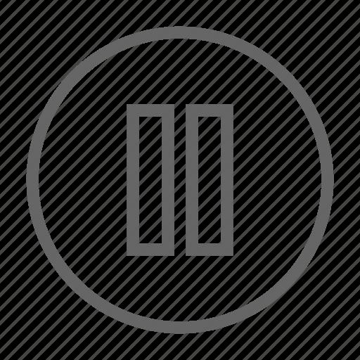 audio, pause icon