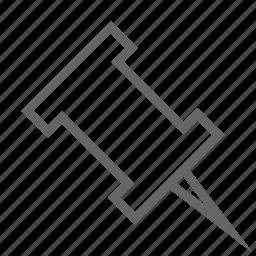 pin, save icon