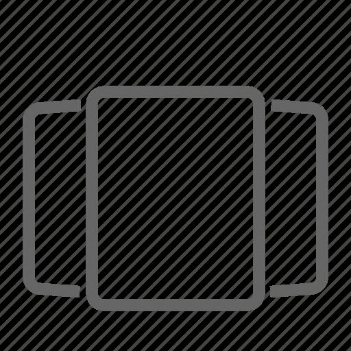 screen, swipe icon