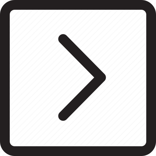 arrow, rectangle, right icon