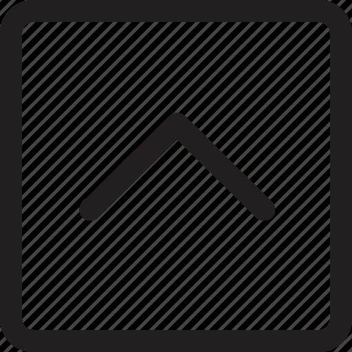 arrow, rectangle, up icon