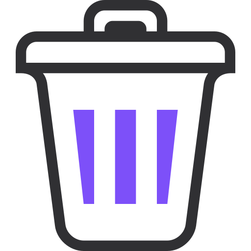 cancel, close, delete, recycle, remove, trash icon