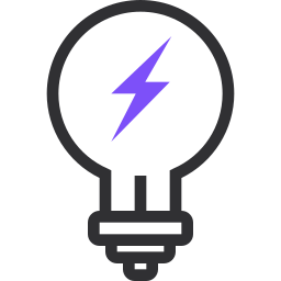 charge, electricity, energy, flashligh, idea, lamp, light icon