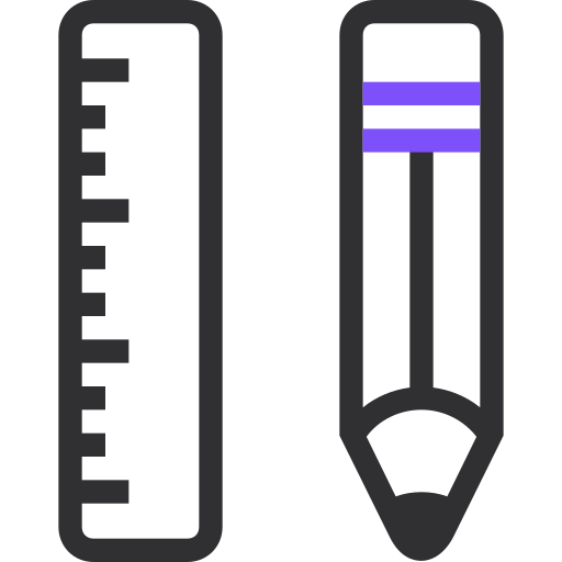 edit, pencil, ruler, scale, tool, tools, write icon