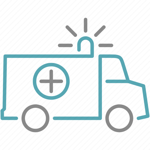 ambulance, medical, transport icon