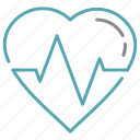 ekg, health, hearth, pulse icon