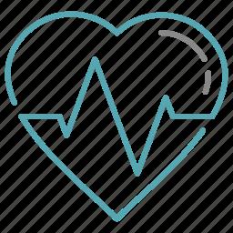 ekg, health, hearth, pulse icon