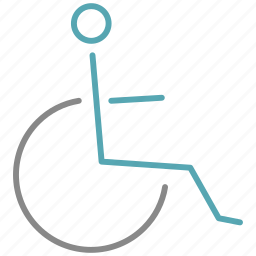 chair, invalid, wheel icon