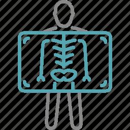 medical, medicine, ray, rentgen, x icon