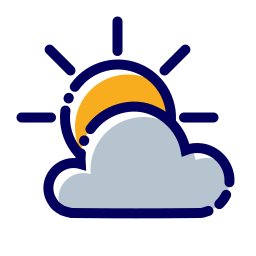 cloud, cloudy, nuvola, nuvoloso, sole, sun, weather icon