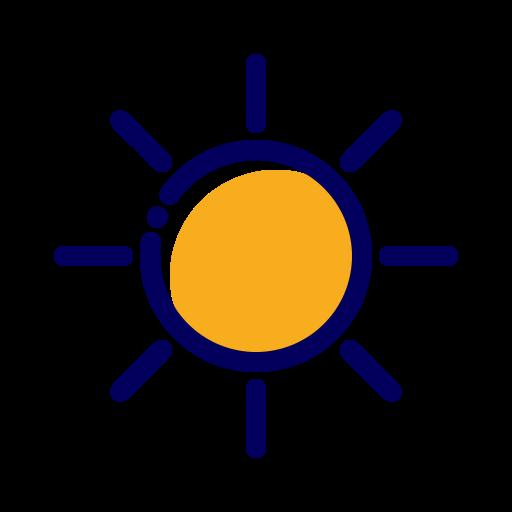 giallo, sole, soleggiato, sun, sunny, weather, yellow icon