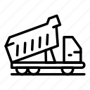 business, car, cat, logo, silhouette, tipper, work