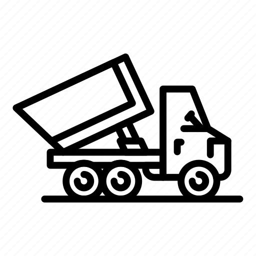 Business, car, commercial, retro, silhouette, tipper, vintage icon - Download on Iconfinder