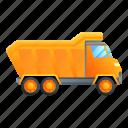 business, car, technology, tipper, unloading