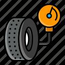 air pressure, psi meter, tyre, tire, gauge, manometer, measurement