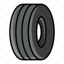 blad, worn out, old, car tire, tire repairing, wheel, tyre