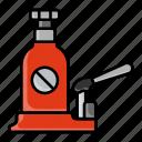 hydraulic, bottle jack, low profile, welded, vertical jack, tire repairing, tool