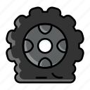 flat tire, car, tyre, tire, deflate tire, damaged tire, service