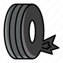 tire bursts, wheel blowouts, tire, tyre, punctured, flat tire