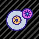 tyre, auto, wheel, contour, tire, car