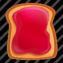berry, food, fruit, jam, toast