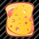 bread, breakfast, cheese, food, sandwich, toast